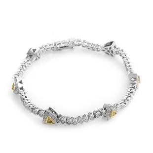 18K Multi-Gold Diamond Bracelet