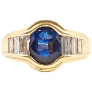Mauboussin Sapphire Diamond 18K Gold Ring