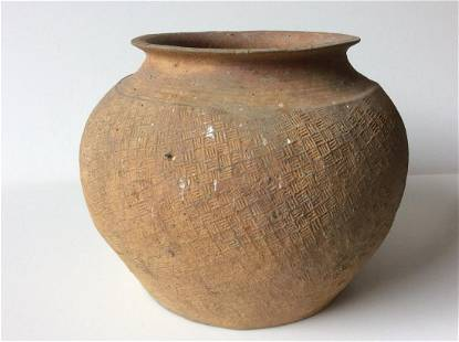 Chinese Pottery Jar Warring States Period (475-221BC)