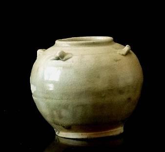 Sung Period Off White Under Glaze Qingbai Jar, 13th C