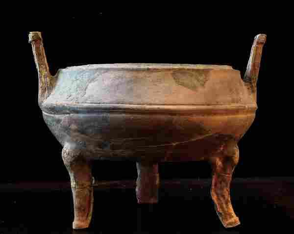 Han Period Ding Tripod Pottery
