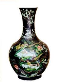 Chinese Famille Vert Kang-xi Mark Vase, 18th C