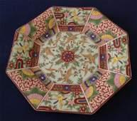 Vintage Imari Ware Japanese Gilt Octagonal Plate