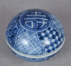 Japanese Porcelain Tea Ceremony Sometsuke Kogo, 19th C