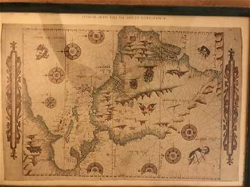 Pierre Desceliers: Mariner's Guide to New World, 1546