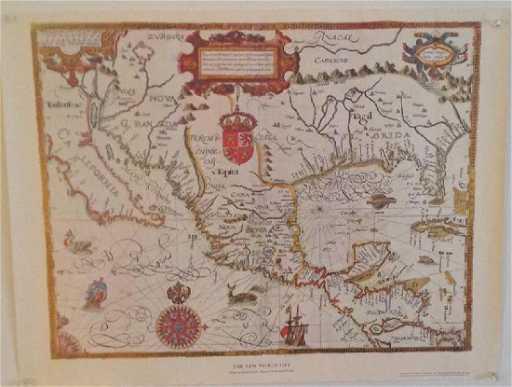 Gabriel Tatton The New World Map 1600 Reproduction