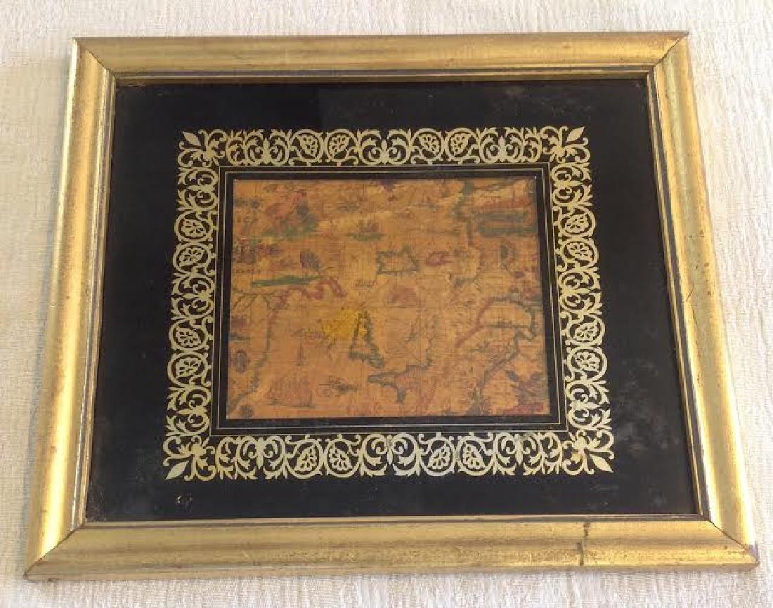 Vintage Baltic & Old World Map, Gilded Black Frame