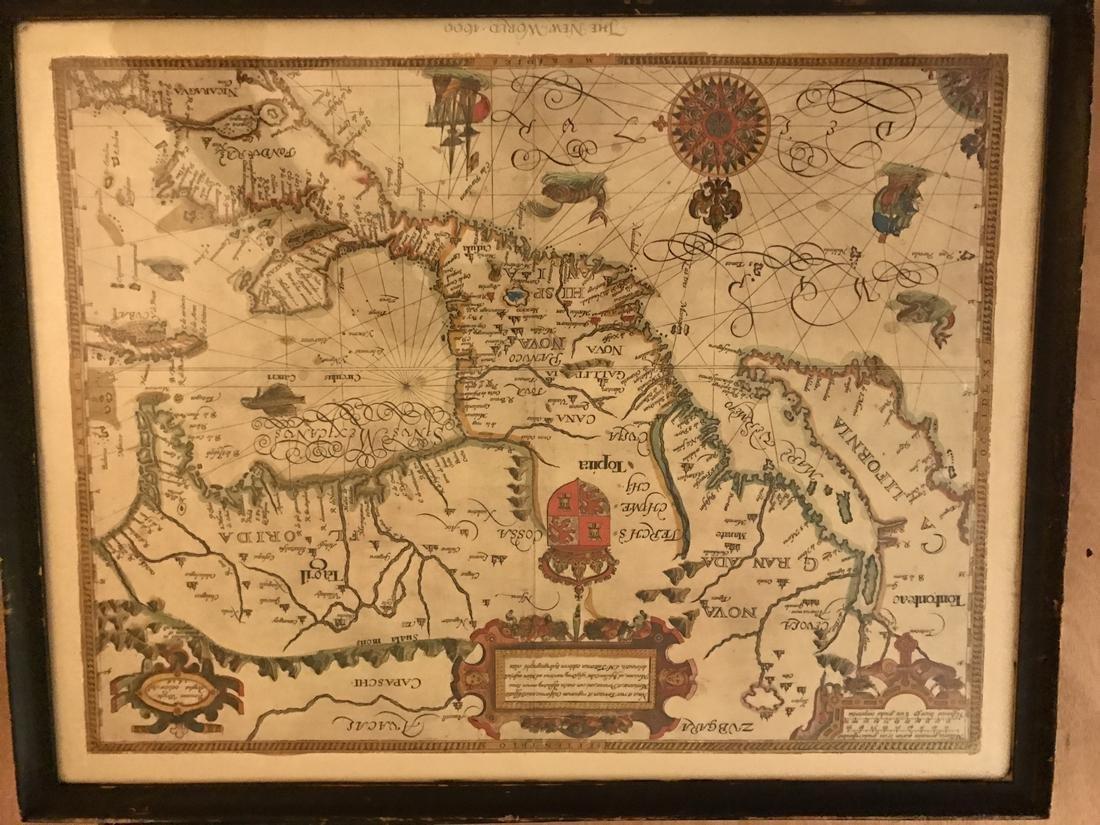 Gabriel Tatton: Map of The New World, 1600