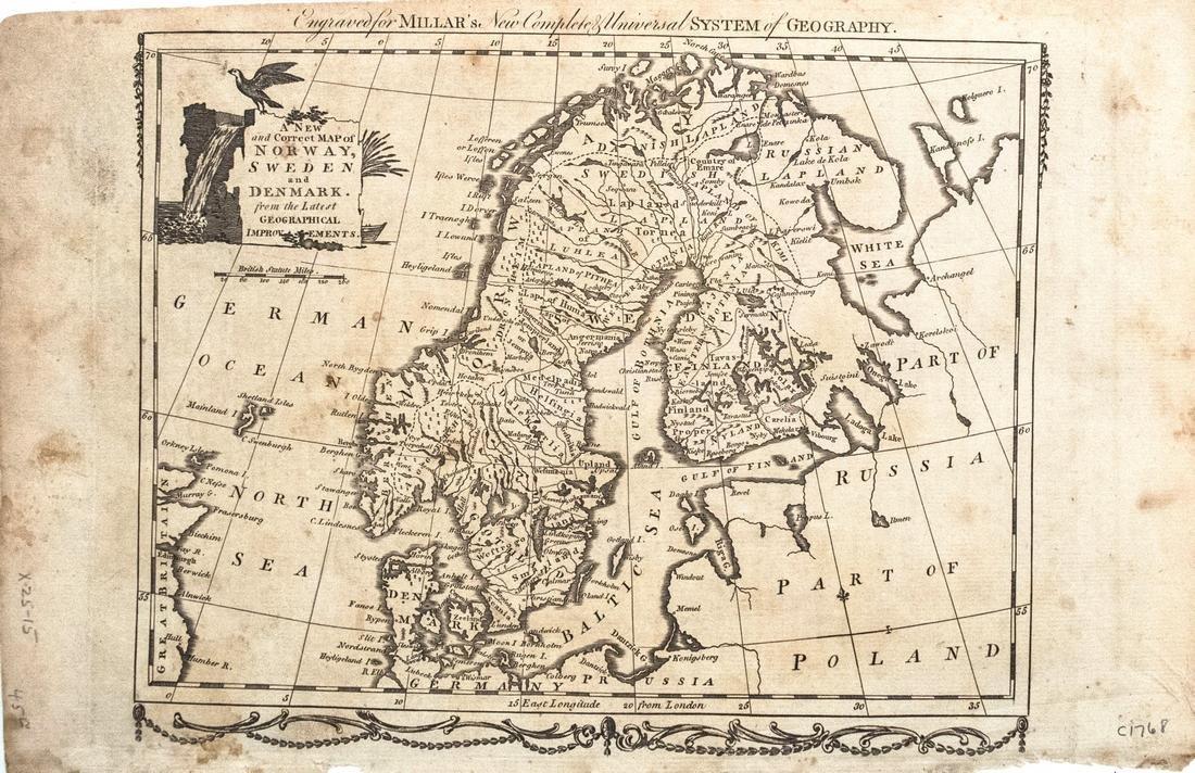 Millar Map of Scandinavia, 1768