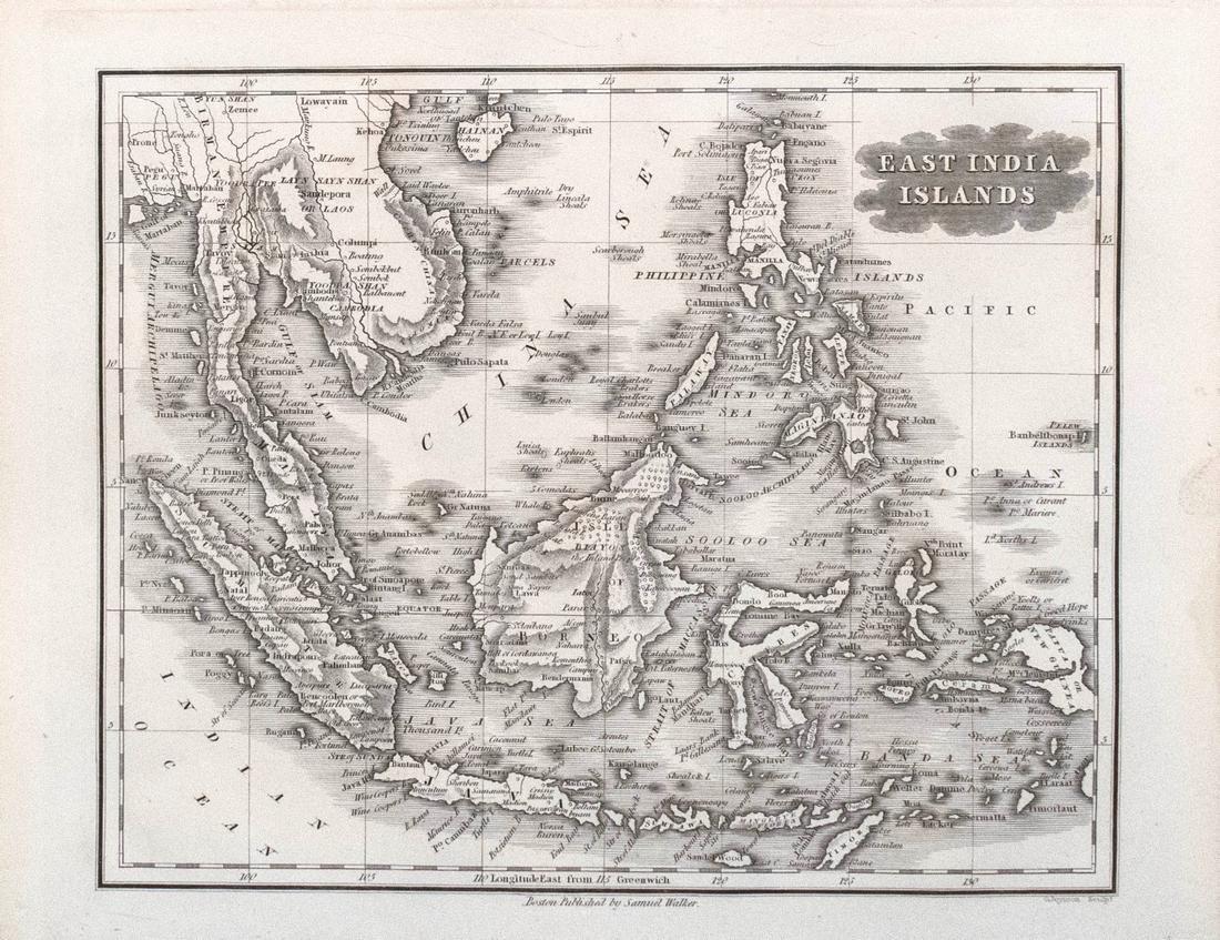 Malte-Brun Map of the Spice Islands, 1834