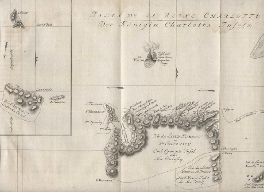 Bellin: Map of Queen Charlotte Island, James Cook