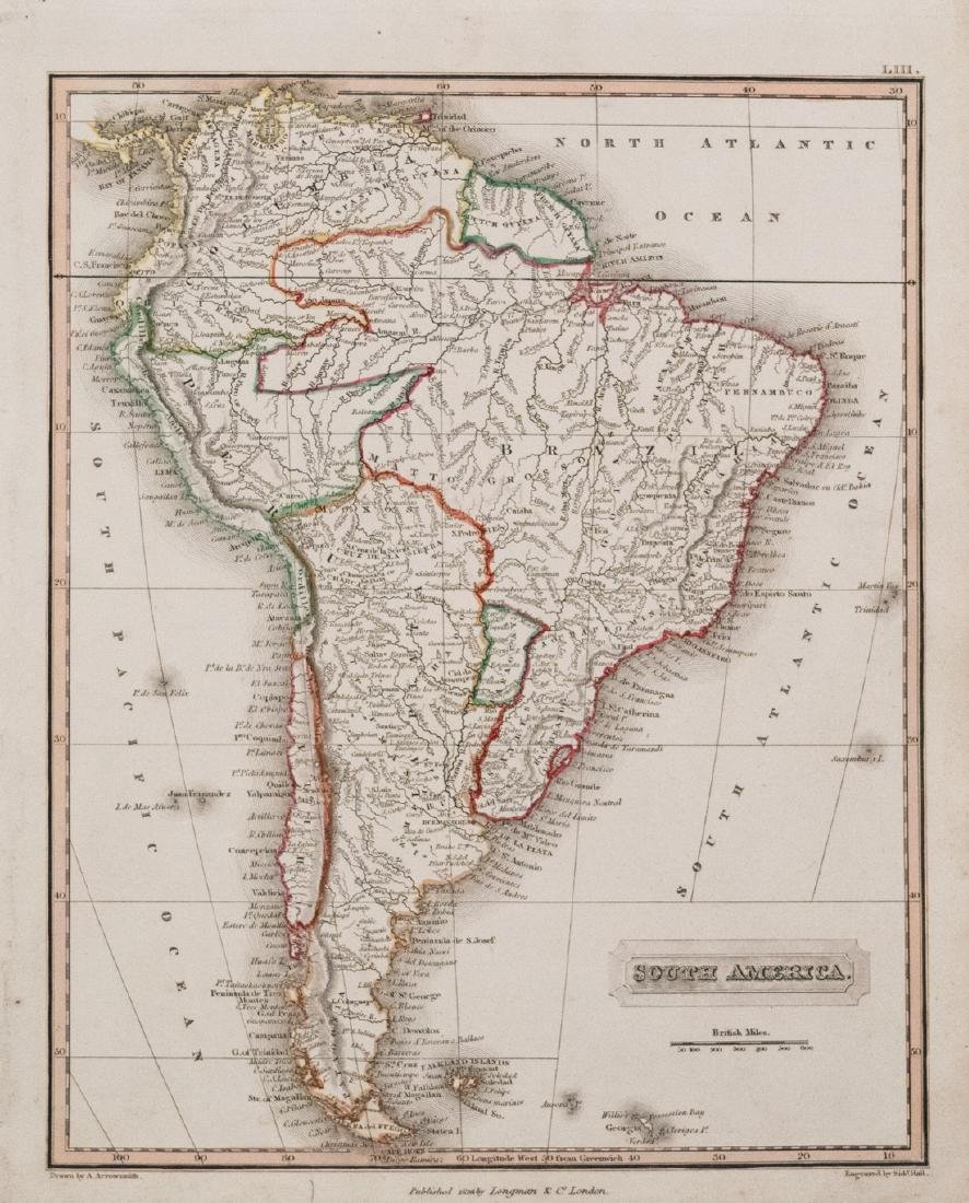 Arrowsmith Map of South America, 1823