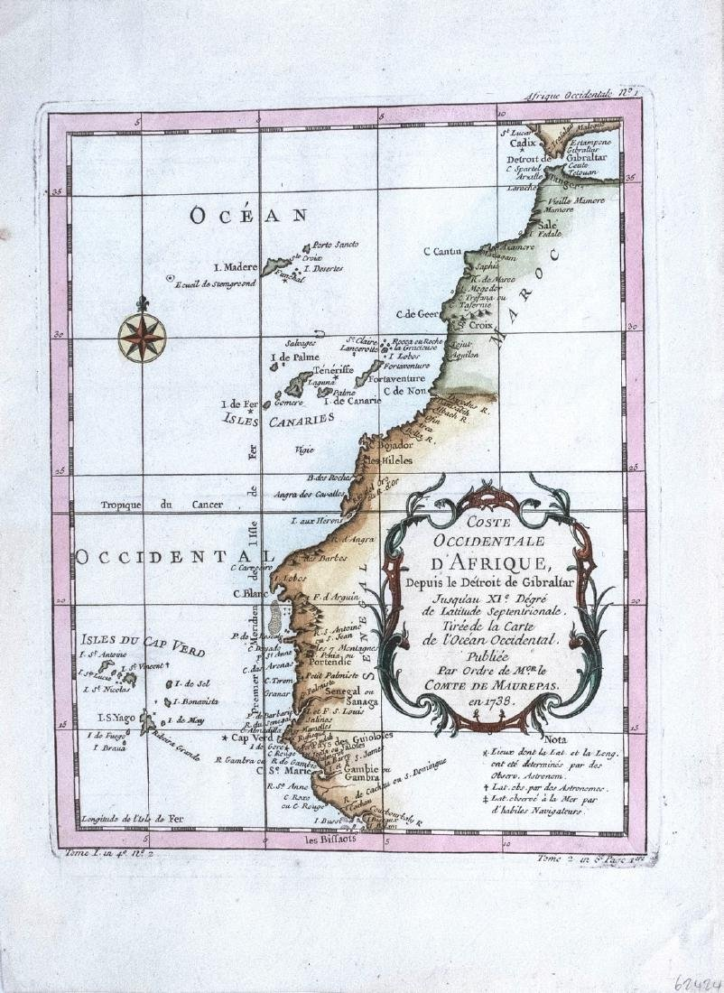 Bellin Map of West North Africa & Canary Islands, 1750