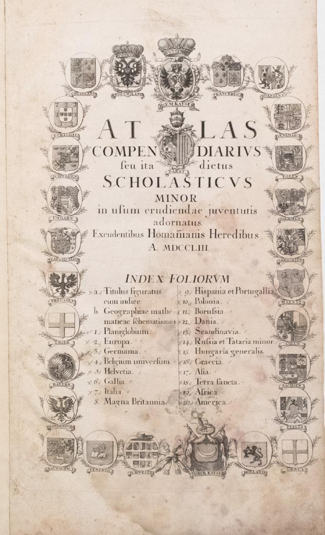 Homann Atlas Title Page, 1753