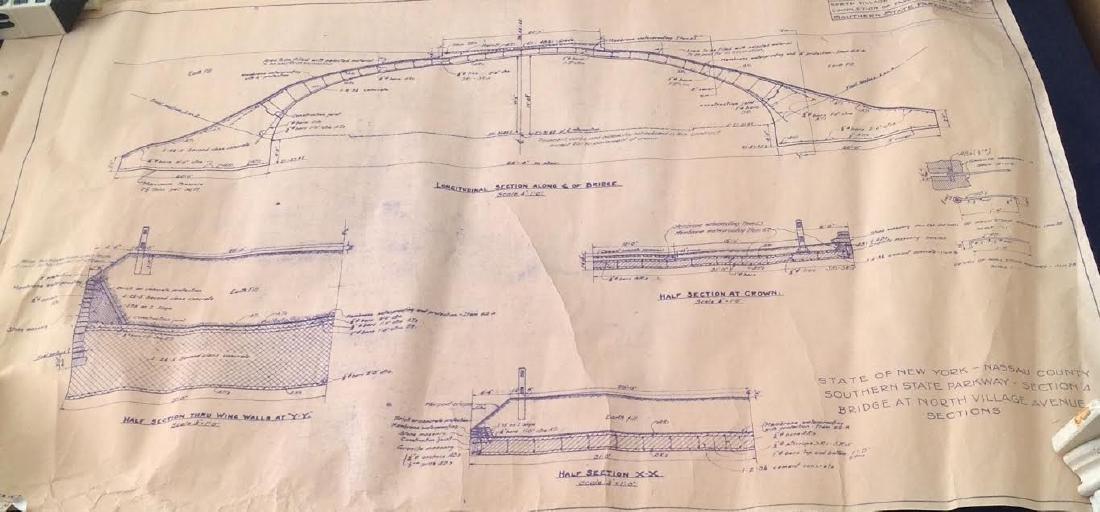 Site Map Plan to Robert Moses Bridge, New York 1929