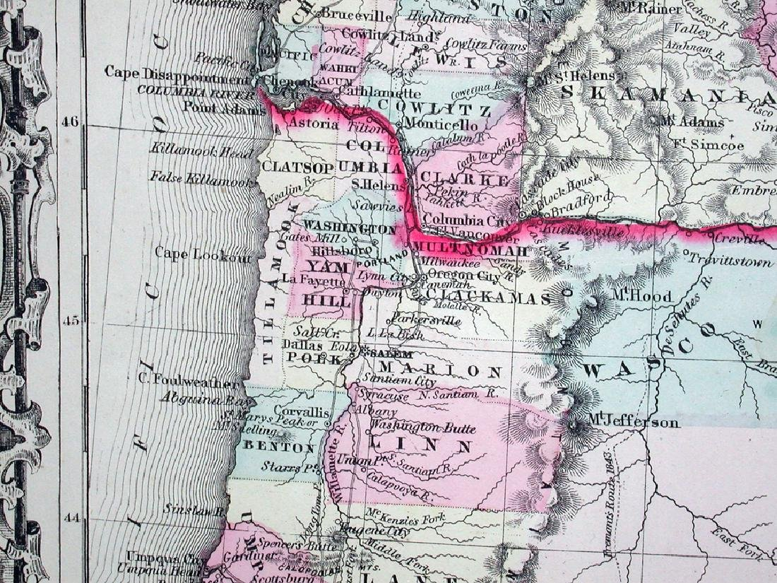 Johnson's Map of Washington and Oregon, 1861 - 2