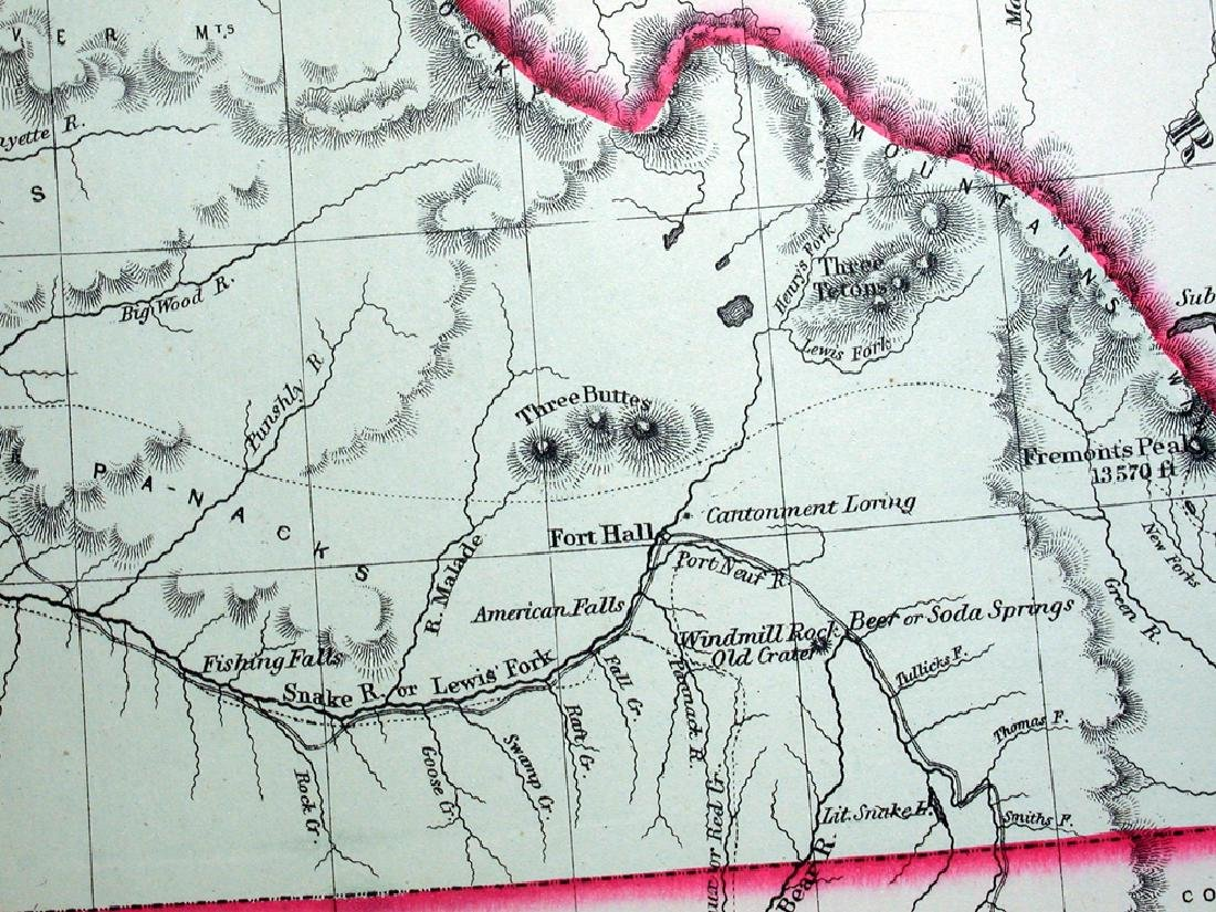 Johnson's Map of Washington and Oregon, 1861 - 3