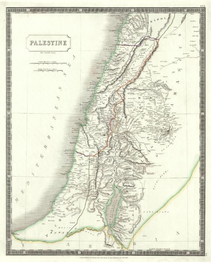 Map of Palestine, 1830