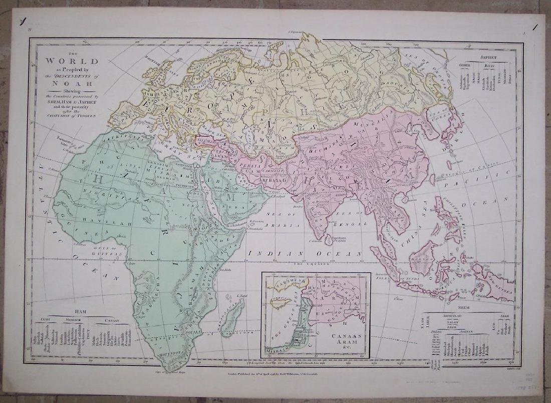 Map of the World,y The Descendents of Noah