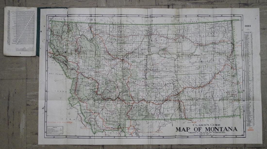 Clason's Guide Map of Montana - 2