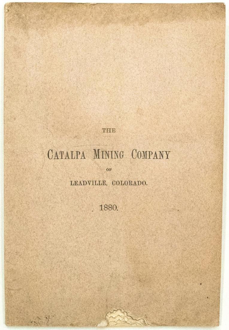 Map and Prospectus of Colorado Silver Mine, 1880 - 2