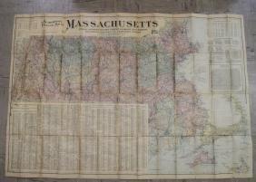 Scarborough's Topographic Map of Massachusetts
