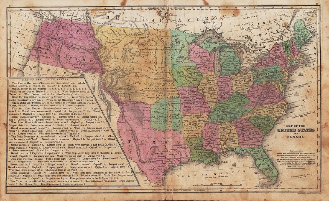 Daniel Burgess: Map of United States & Canada, 1846