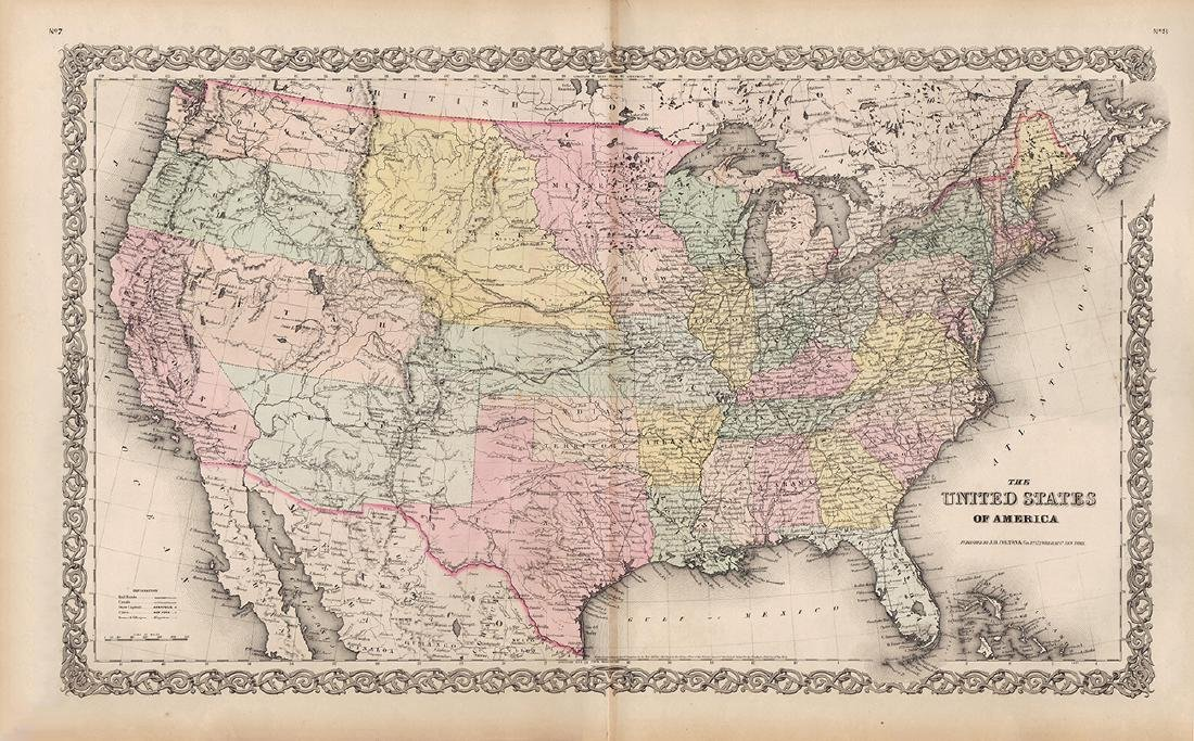 J. H. Colton: Map of United States of America, 1855