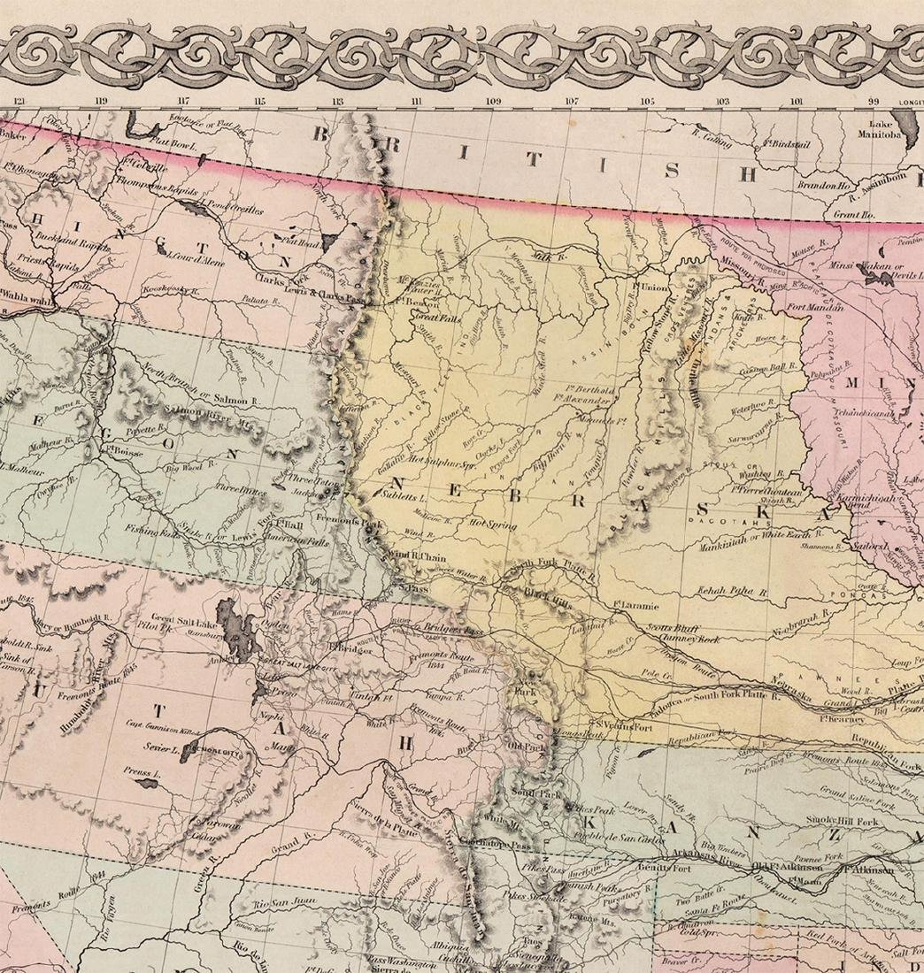 J. H. Colton: Map of United States of America, 1855 - 3