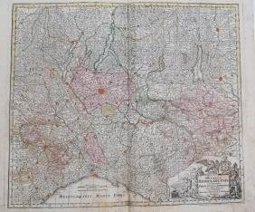 Seutter Map of Northern Italy, 1730