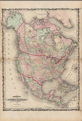 Johnson's North America, Johnson & Browning, 1861