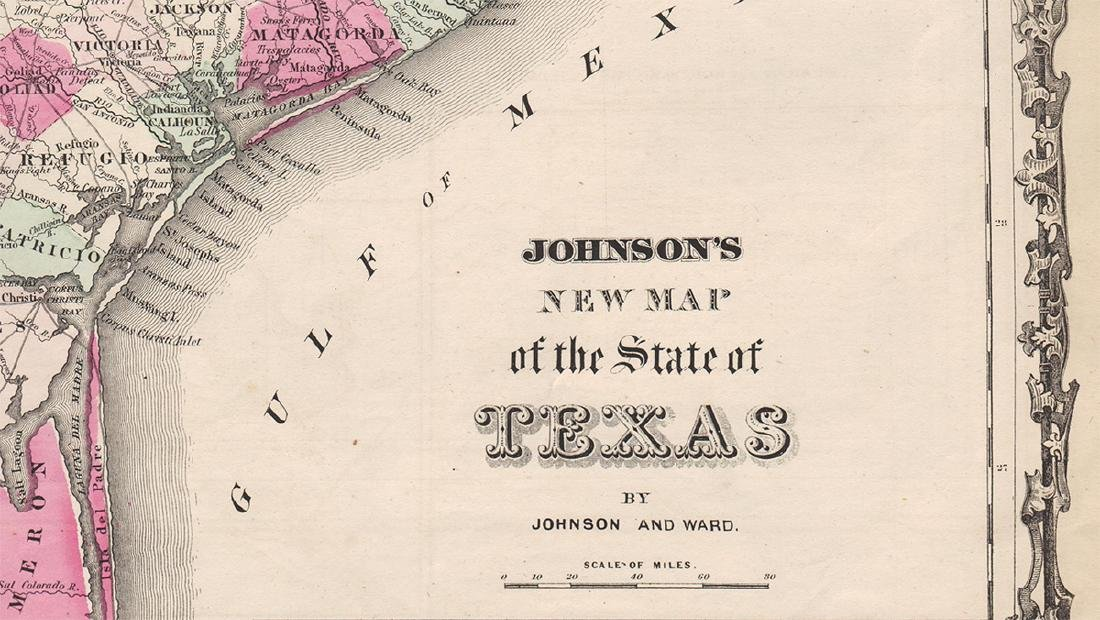 Johnson's New Map of the State of Texas, 1863 - 2