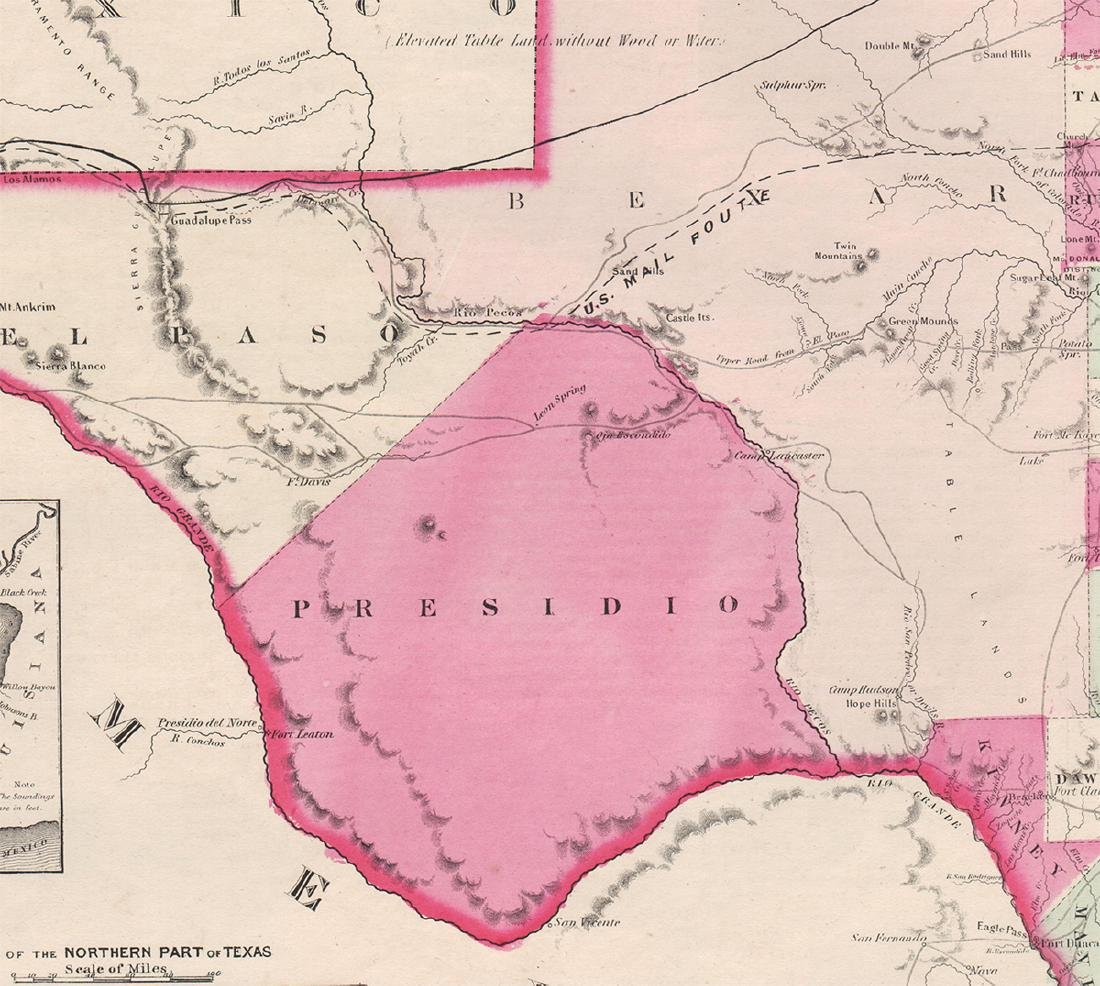 Johnson's New Map of the State of Texas, 1863 - 3