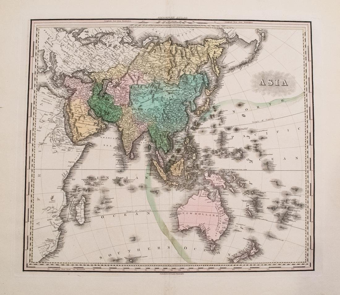 Tanner Map of Asia, 1828