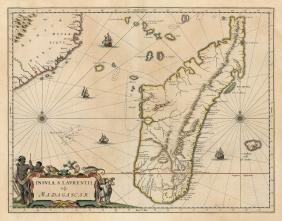 Insula S. Lavrentii, vulgo Madagascar, 1660