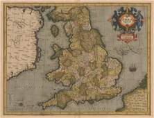 Map of Anglia Regnum, 1595