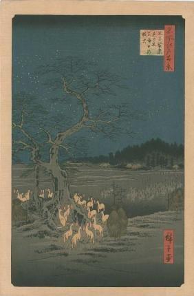 Ando Hiroshige: New Year's Eve Foxfire