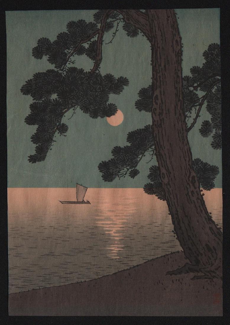 Arai Yoshimune: Pine Tree & Full Moon