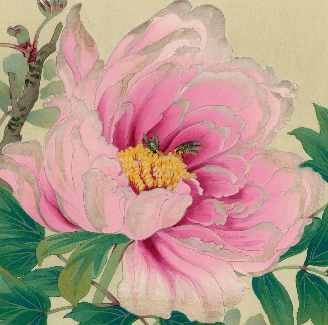 Ikeda Zuigetsu: Bees on a Peony Flower - 2