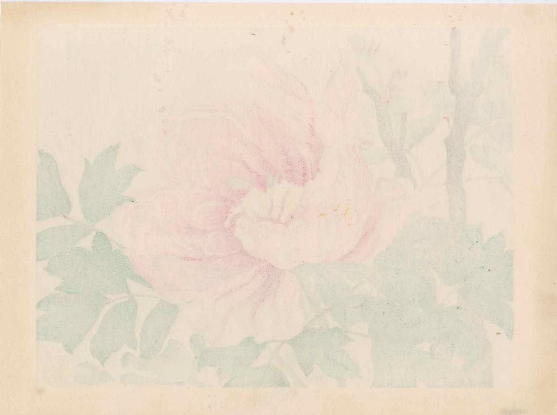 Ikeda Zuigetsu: Bees on a Peony Flower - 3