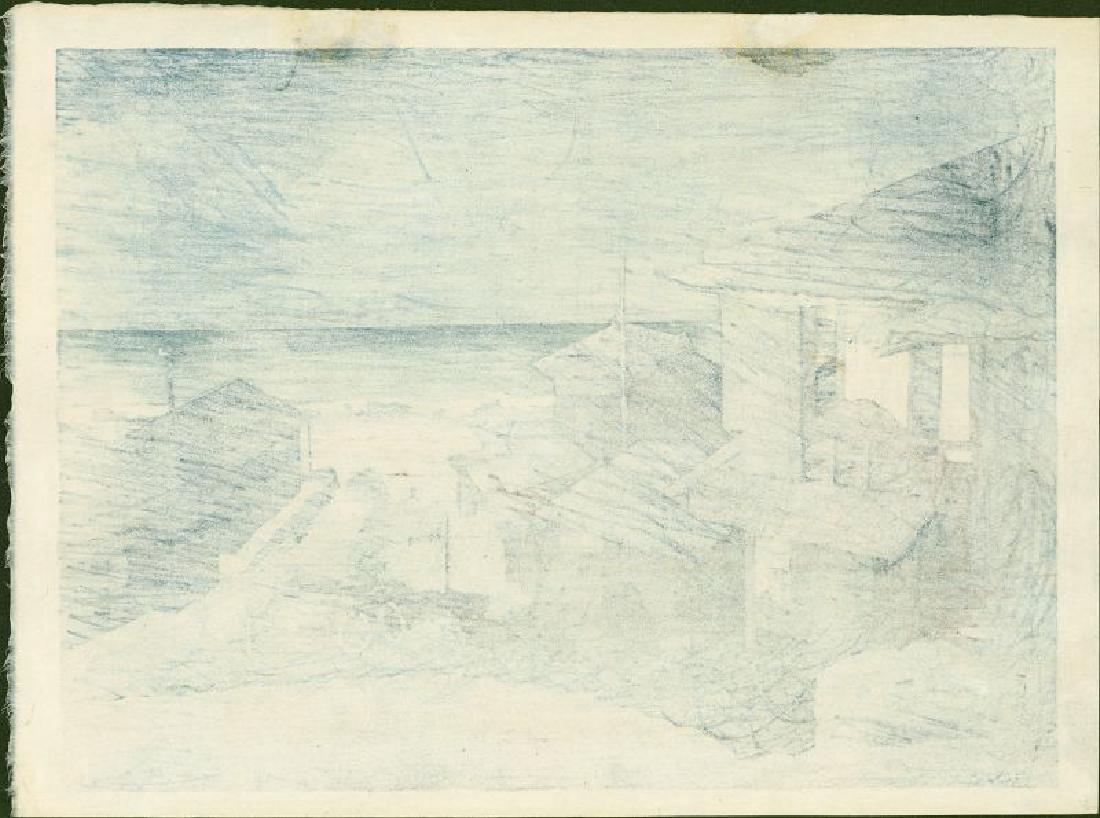 Kawase Hasui: Cloudy Day at Mizuki, First Edition - 3