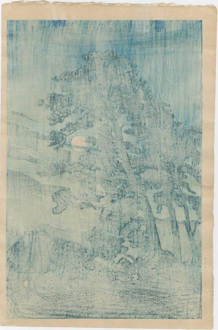 Kawase Hasui: Full Moon at Megome - 2
