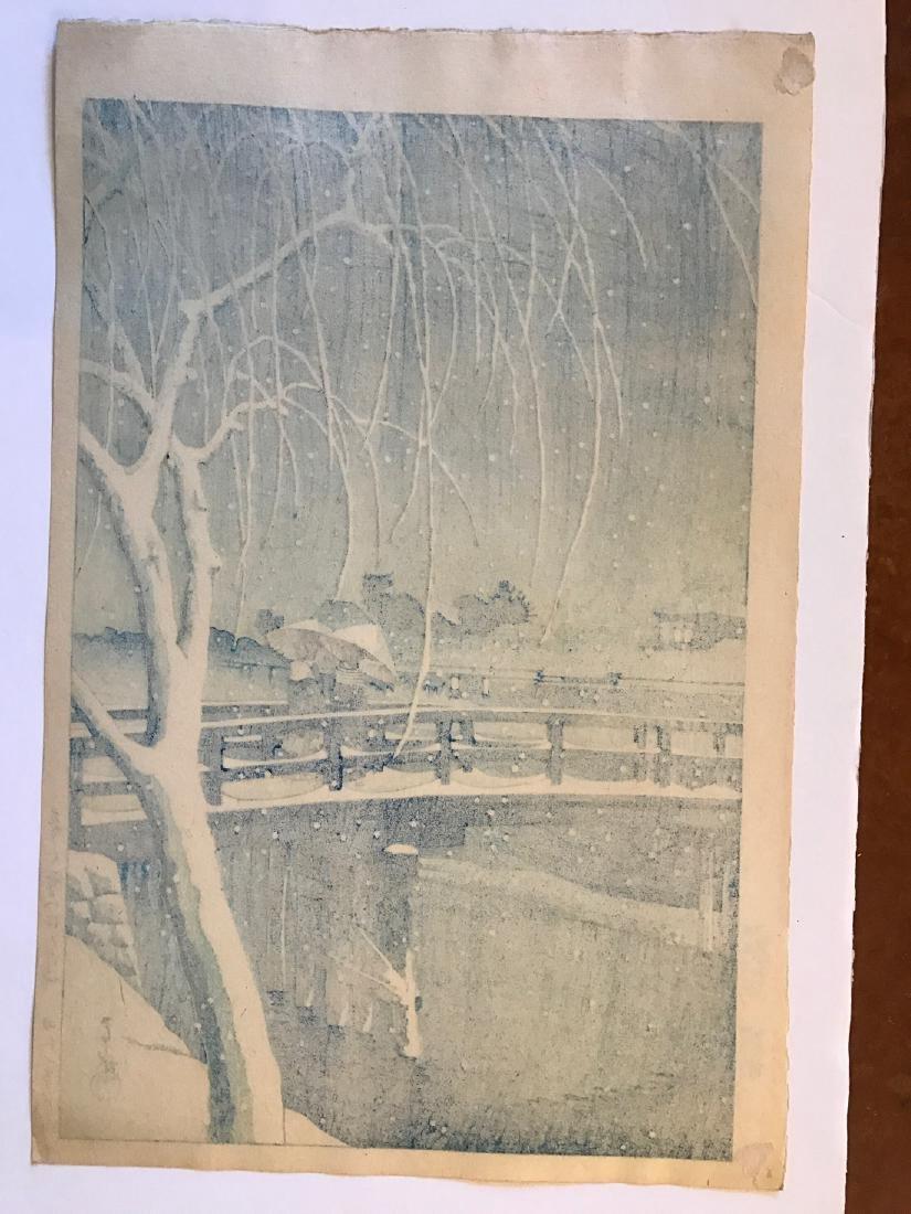 Kawase Hasui: Snow at Edo River - 4