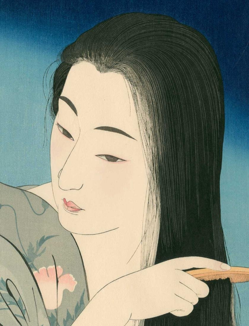 Kotondo Torii: Beauty Combing Her Hair - 2