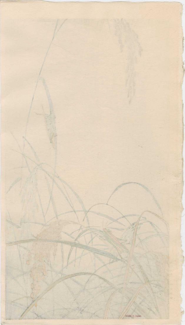 Ohara Koson: Grasshoppers on Wheat Stalks - 3