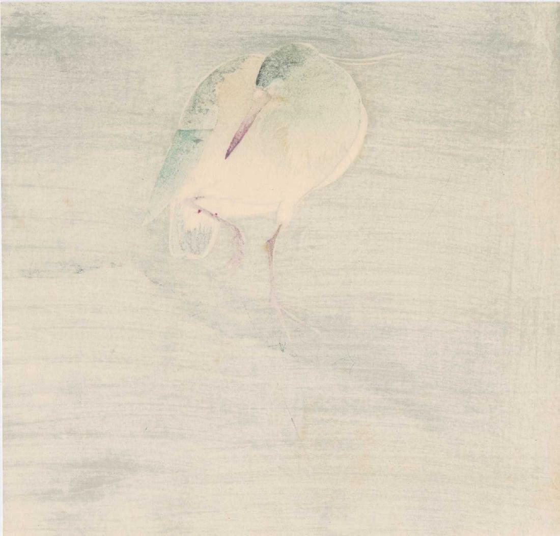 Ohara Koson: Night Heron in a Willow Tree - 3
