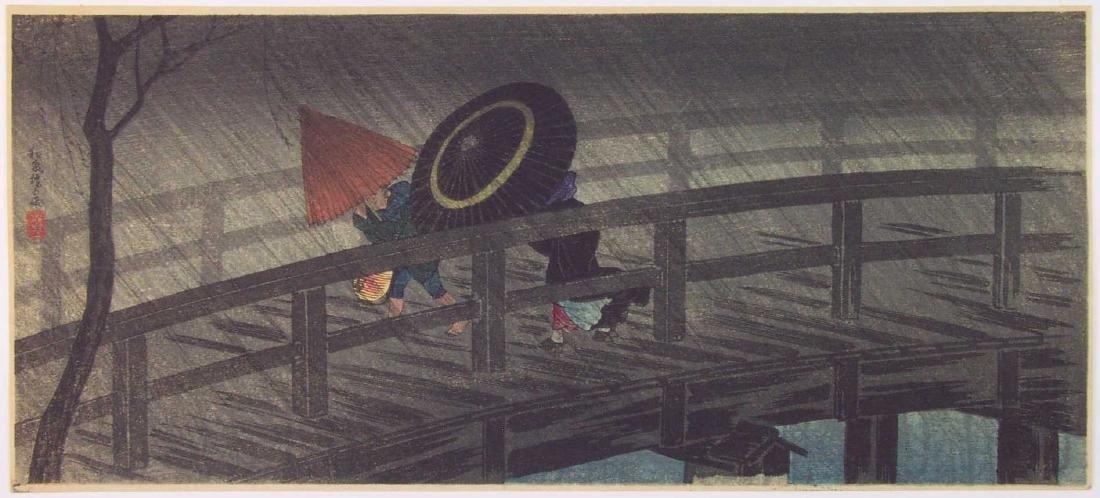 Takahashi Hiroaki (Shotei): Night Shower+Bonus Print