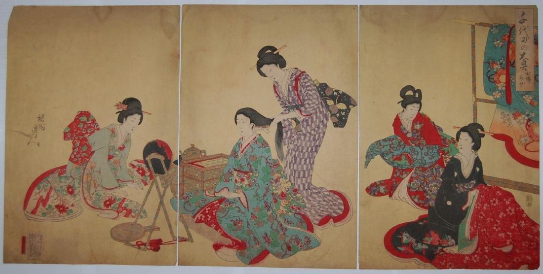 Toyohara Chikanobu: Hair Styling