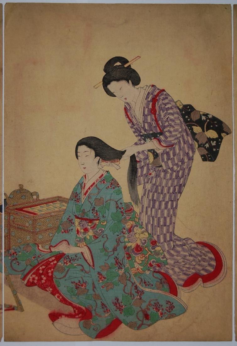 Toyohara Chikanobu: Hair Styling - 3
