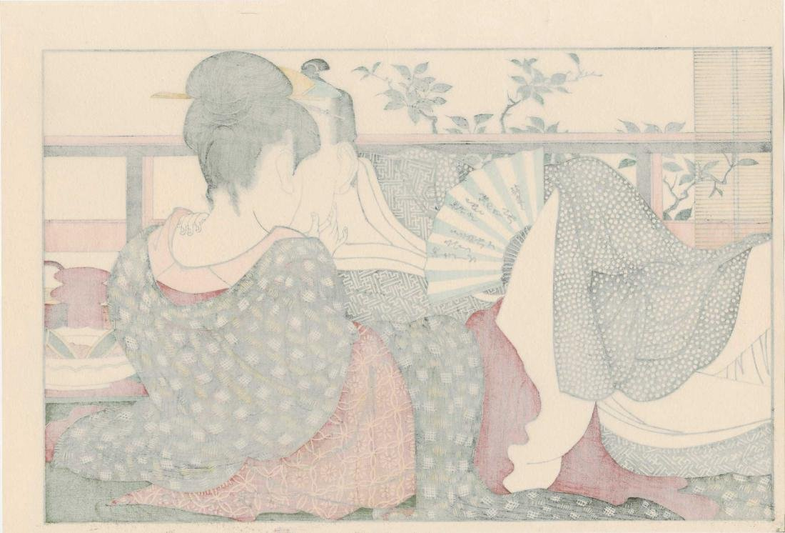 Utamaro: Lovers in an Upstairs Room - 2
